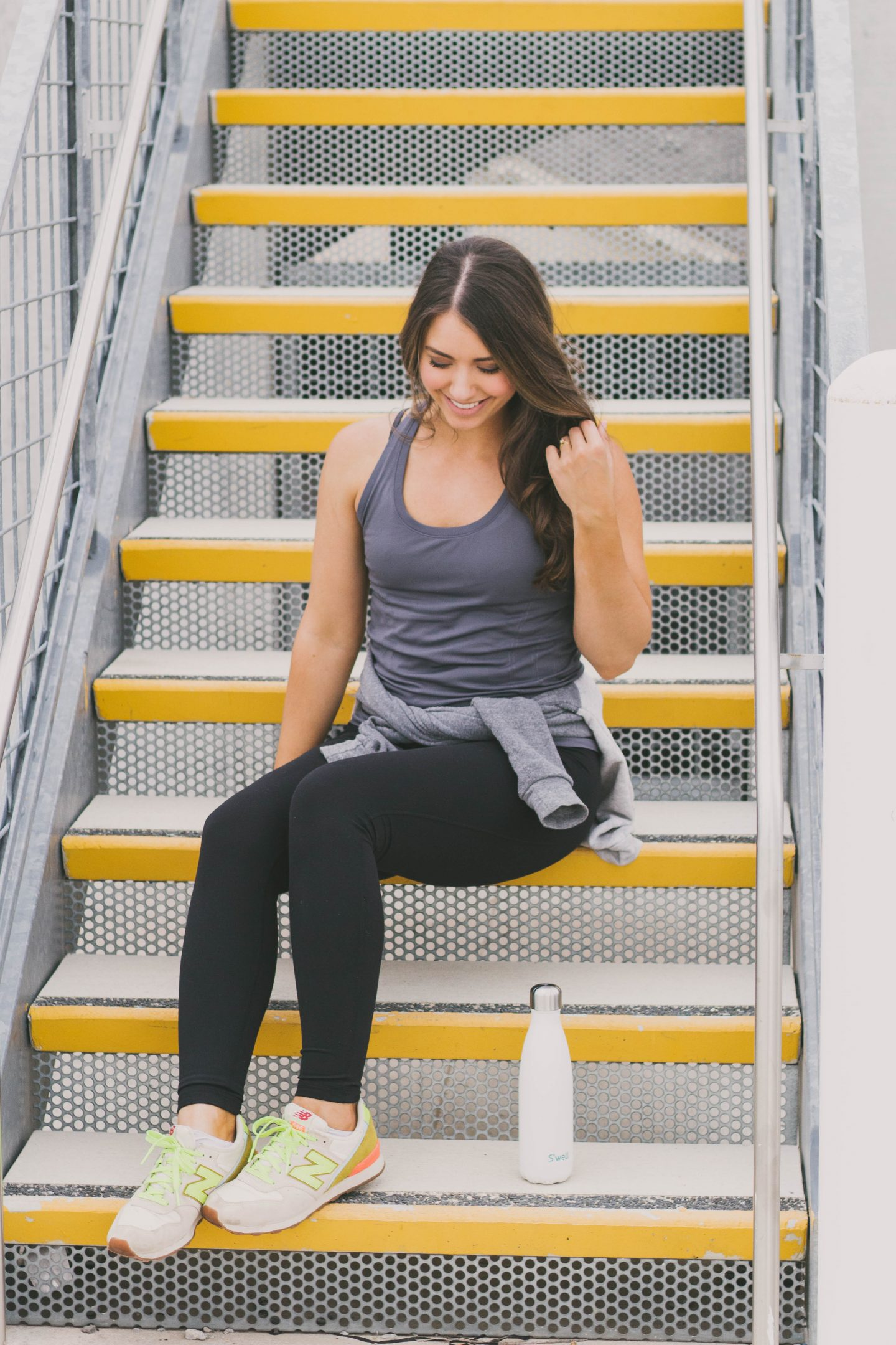 athleisure ootd zella leggings fitness Happily Lindsey